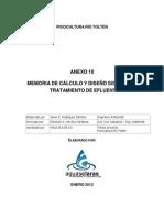 4e5 Memoria de Calculo Sistema de Tratamiento de Efluente