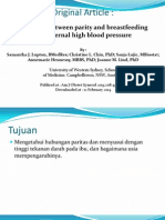 Journal Parity, Breastfeeding, Hipertension