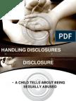 Handling Disclosures