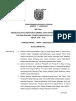 Peraturan Daerah Nomor 2 Tahun 2009 tentang Rencana Tata Ruang Wilayah Kota Depok Tahun 2000-2010