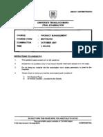 Produt Management MKT534 OCT2007