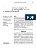 Competitive Position, Managerial Ties, And Profitability of Foreign Firms in China_ an Interactive Perspectiv