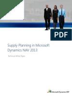 Supply Planning in Microsoft Dynamics NAV 2013