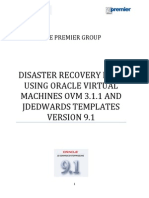 DISASTER RECOVERY PLAN USING ORACLE VIRTUAL MACHINES OVM 3.1.1 AND JDEDWARDS TEMPLATES  VERSION 9.1