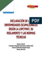 Declaracion de Enfermedades Venezuela
