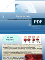 Migratia Si Mutatia Factori Modificatori Ai Structurii Genetice a Populatiilor