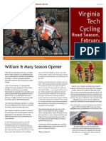 VT Cycling February Newsletter