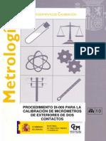 calibratge micrometre