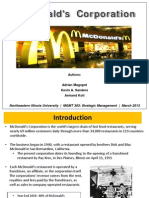 McDonald`s Case- Strategic Management Adrian Magopet)