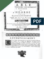 F-Bartolotti Table pour apprendre facilement à toucher le Théorbe (1669)