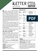 Wimbldedon Park Ptfa Newsletter 20/10/2009