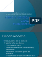 Ciencia jurídica y ciencia posmoderna.epistemologia
