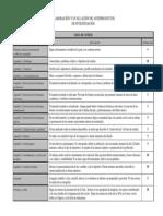 Lista de Cotejo Para Reportes de Anteproyectos