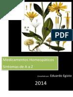 Medicamentos Homeopáticos de A a Z - Eduardo Egisto