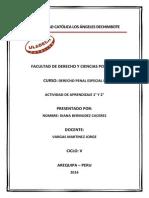 Derecho Penal Especial 2 Actividad de Aprendizaje 1 y 2