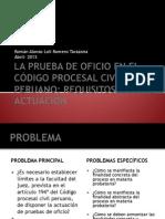 LA PRUEBA DE OFICIO EN EL CÓDIGO PROCESAL