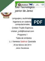 Programa Lenguajes y Automatas