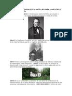 HISTORIA DENOMINACIONAL DE LA IGLESIA ADVENTISTA DEL SÉPTIMO DÍA