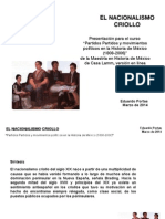 EL NACIONALISMO CRIOLLO EN MÉXICO DEL SIGLO XIX