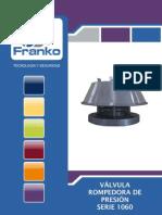 Valvula de alivio de presion FRANKO