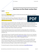 BOI_13Mar2014_BBerg_Ireland Raises 1 Billion Euros in First Bond Auction Since 2010 - Bloomberg