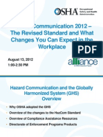 Hazard Communication 2012 – The Revised Standard and What Changes You Can Expect in the Workplace