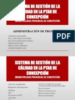 SISTEMA DE GESTIÓN DE LA CÁLIDAD EN LA PTAR