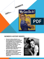 March Into Women's History!