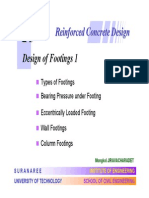 Design of Reinforced Concrete Footings Sample  Problem Punching Shear Flexure Beam Shear