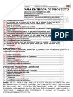 Requisitos Para Entrega de Proyecto