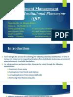Investment Management QIP