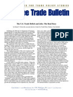 The U.S. Trade Deficit and Jobs