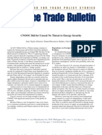 CNOOC Bid for Unocal No Threat to Energy Security, Cato Free Trade Bulletin No. 19