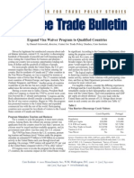 Expand Visa Waiver Program to Qualified Countries, Cato Free Trade Bulletin No. 26