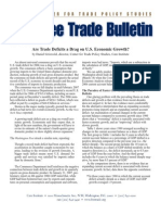 Are Trade Deficits a Drag on U.S. Economic Growth?, Cato Free Trade Bulletin No. 27