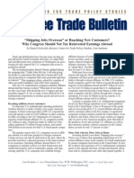 """Shipping Jobs Overseas"" or Reaching New Customers? Why Congress Should Not Tax Reinvested ..., Cato Free Trade Bulletin No. 36"