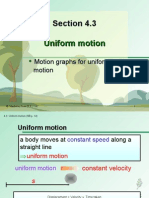 Section 4.3 Uniform Motion