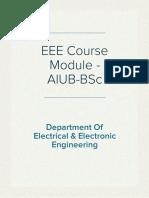 AIUB B.Sc.(EEE) Syllabus