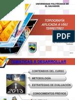 TOPOGRAFÍA APLICADA A VÍAS TERRESTRES 16-11-13