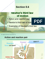 Section 5.6 Newton's Third Law of Motion