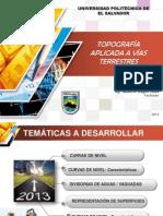 TOPOGRAFÍA APLICADA A VÍAS TERRESTRES 23-11-13