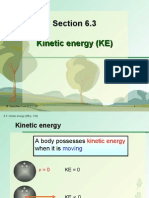 Section 6.3 Kinetic Energy (KE)