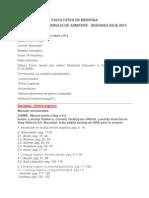 Tematica Admitere Medicina UMF