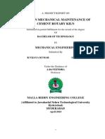 mechanical maintenance of cement rotary kiln