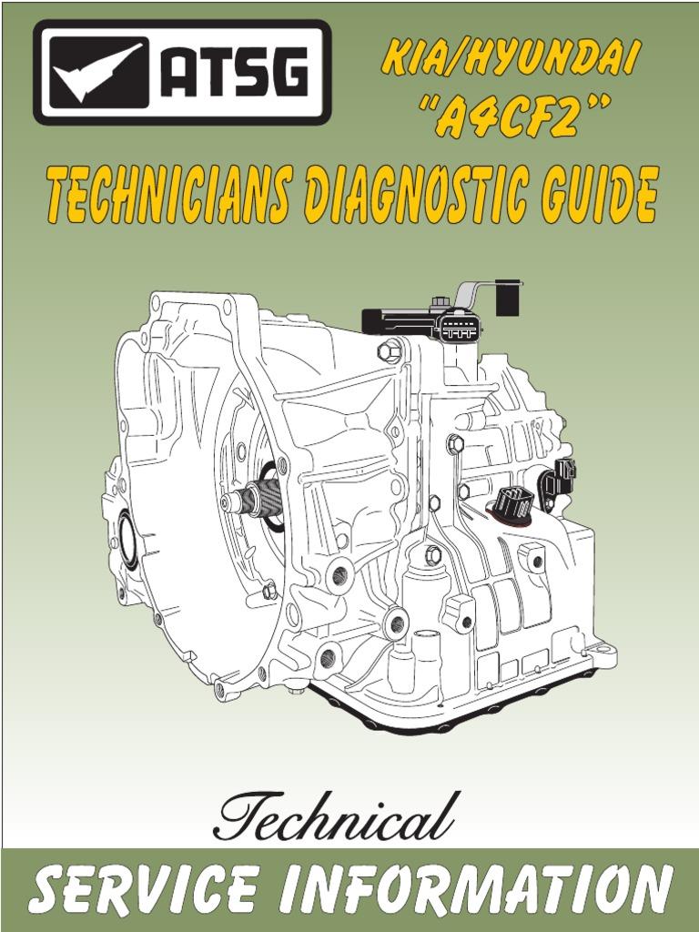 kia hyundai a4cf2 automatic transaxle overhaul manual