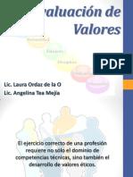 10. La evaluación de valores