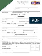 Planilla de inscripción