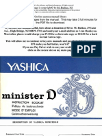 Yashica Minister D - User Manual