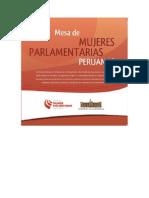 Diptico Mesa de Mujeres Parlamentarias Peruanas