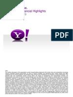 Yahoo Q3 Earnings Slides